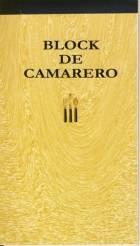 BLOCK DE CAMARERO