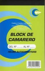 BLOCK DE CAMARERO VERDE