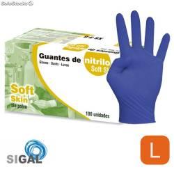 GUANTE SIGAL NITRILO SP SOFT SKIN T L