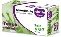 GUANTE SIGAL NITRILO SP TOUCH MORADO T S