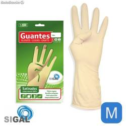 GUANTE SATINADO T M LATEX NATURAL 100