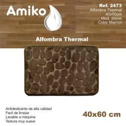 ALFOMBRA THERMAL 40X60CM  MOD STONE MARRON