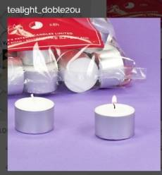 TEALIGHTS DOBLE 7 H  PACK 20