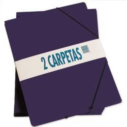 CARPETAS CON SOLAPAS CUARTILLA 2 UDS