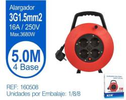 ALARGADOR ENROLLABLE 4 TOMAS 5M