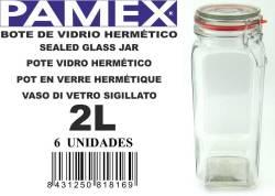BOTE CRISTAL HERMETICO 2L