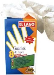 GUANTES DE LATEX NATURAL T P 8UDS