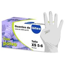 GUANTES LATEX C P 100U T M