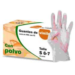 GUANTES VINILO C P 100U T S