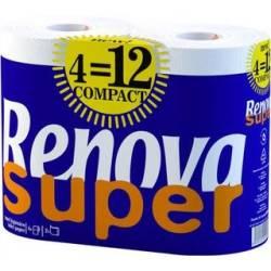 PAPEL HIGIENICO RENOVA SUPER COMPACT 4R