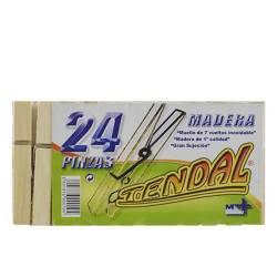 PINZAS MADERA 24 UDS TENDAL