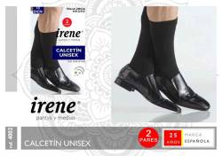 CALCETIN OPAC UNISEX 40D 2 PARES NEGRO T U