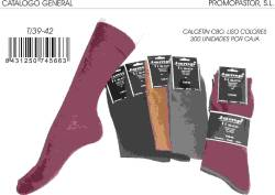 CALCETIN LISO T 39 42 COLORES
