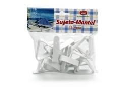 SUJETA MANTEL 12 UDS BOLSA