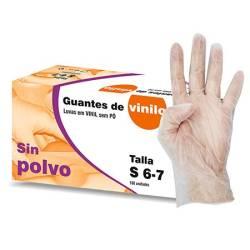 GUANTES VINILO S P 100U T M