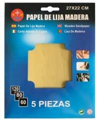 LIJA DE MADERA 5PCS