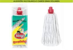 FREGONA ALGODON BLANCO 5C  220GR