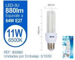 LAMPARA LED 3U 11W E27 LUZ FRIA