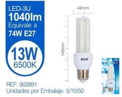 LAMPARA LED 3U 13W E27 LUZ FRIA