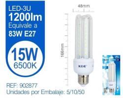 LAMPARA LED 3U 15W E27 LUZ FRIA