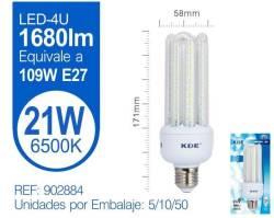 LAMPARA LED 4U 21W E27 LUZ FRIA