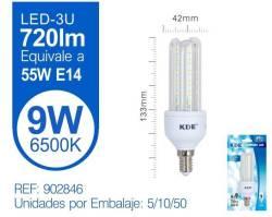 LAMPARA LED 3U 9W E14 LUZ FRIA