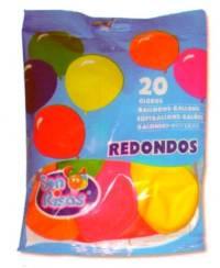 BOLSA 20 GLOBOS 24 CM  REDONDOS  TAPP