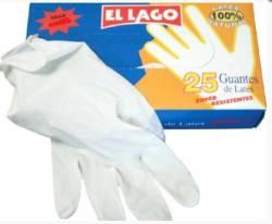 GUANTES DE LATEX 25 UND  T G