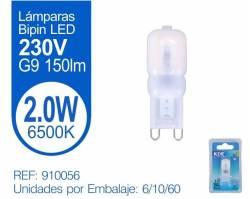 LAMPARA LED 230V G9 2W LUZ FRIA