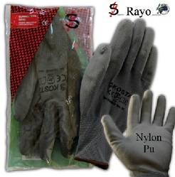 GUANTE NYLON PU GRIS TALLA 7  240